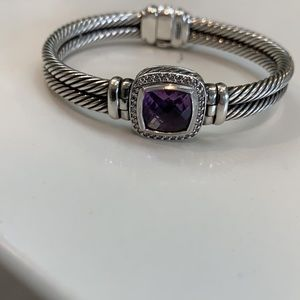David Yurman Albion Amethyst Diamond Bracelet